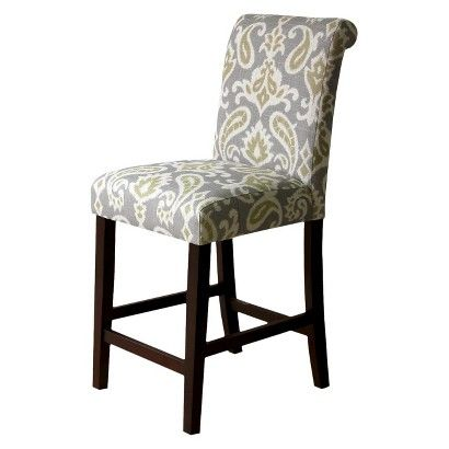 Avington 25 Quot Print Counter Stool Ikat Gray Ideas For