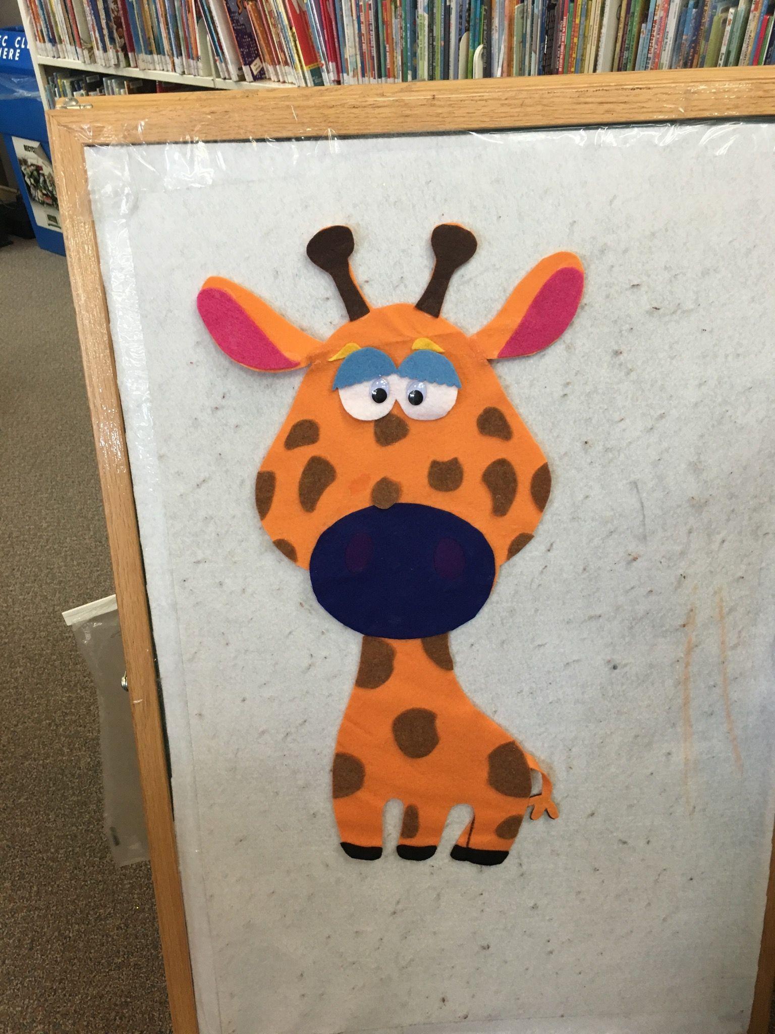 Felt board giraffe do it yourself library jungle display flannel felt board giraffe do it yourself library jungle display solutioingenieria Choice Image