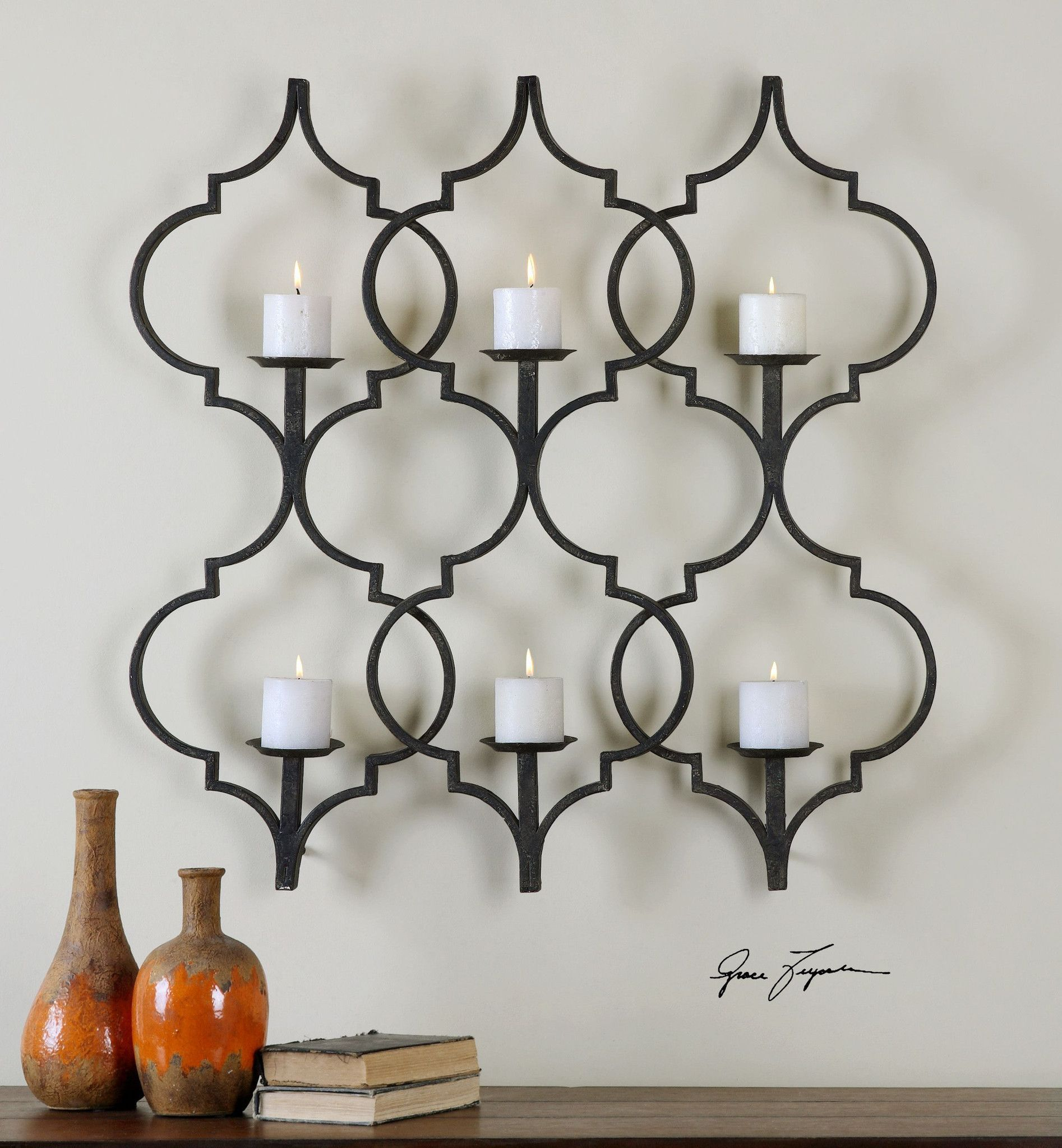 Zakaria metal candle wall sconce wall sconces and walls