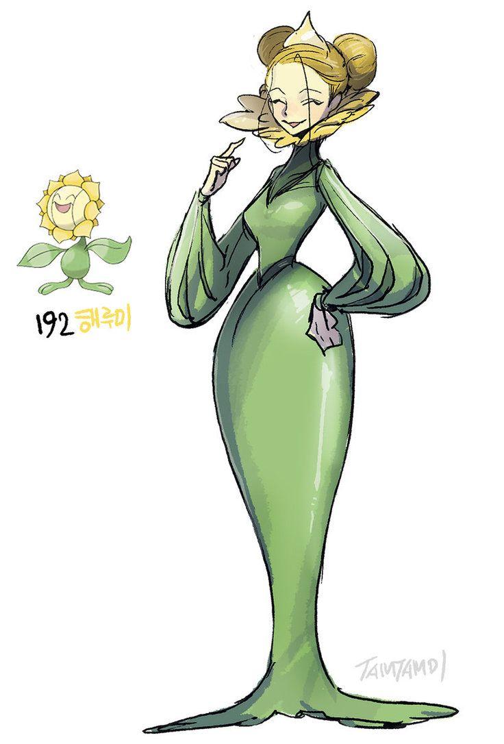 192 Sunflora By Tamtamdi On Deviantart Pokemon By Tamtamdi