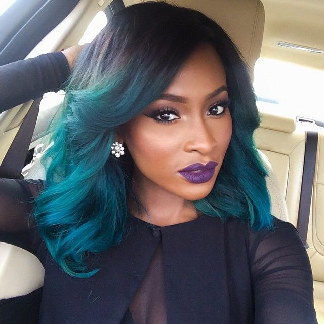 Image result for black women with blue hair