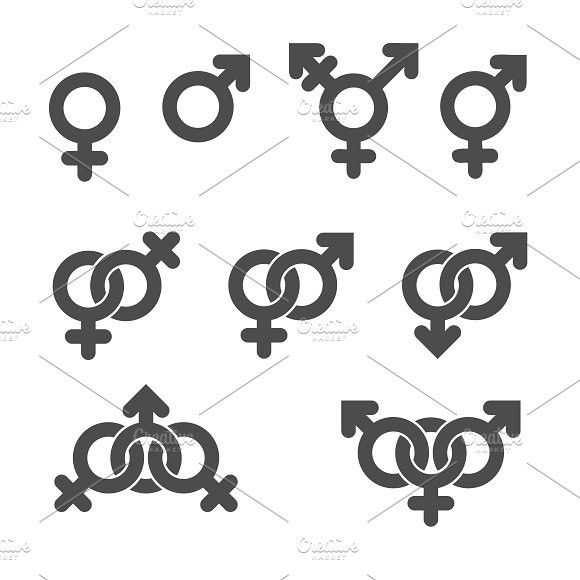 Gender Symbol Icons Gender Symbols And Icons