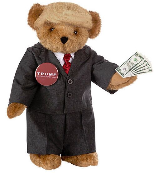 Trump Bear presidential candidate bear from Vermont Teddy Bear company - Donald Trump