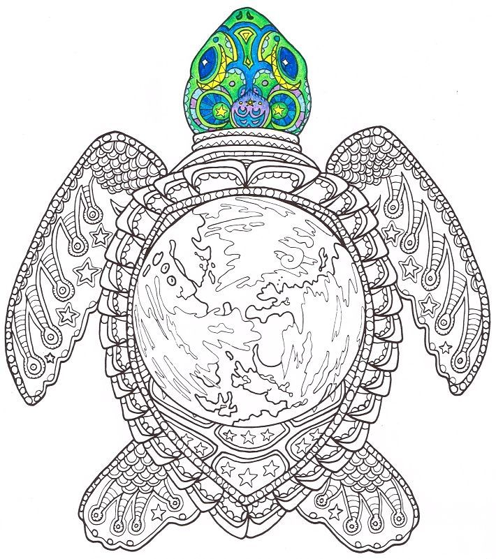 Sea Turtle Coloring Page Candy Hippie Coloring Pages Turtle Coloring Pages Mandala Coloring Pages Coloring Pages