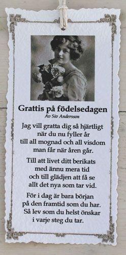 grattis ordspråk Grattis på födelsedagen   Diktkort   ORDSPRÅK   Pinterest   Produkter grattis ordspråk