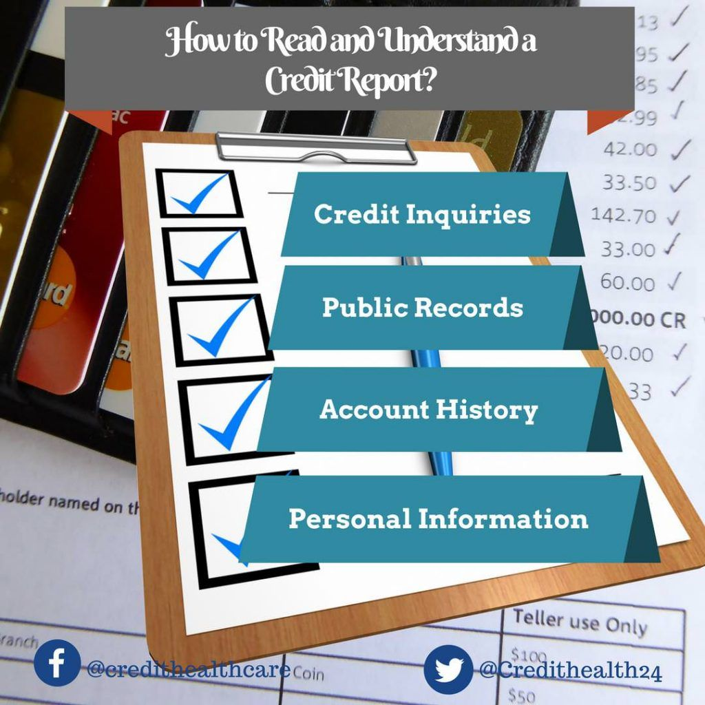 How to read a credit report statement