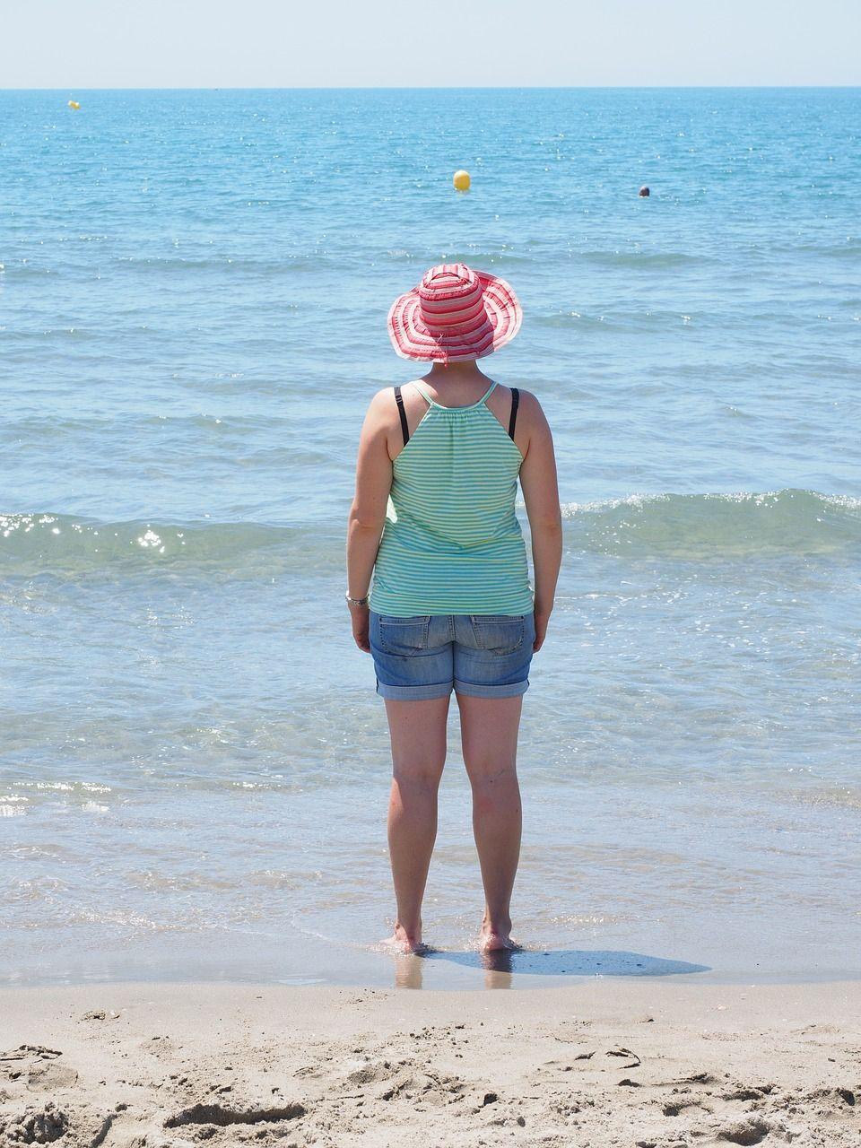 vacation, sea, beach, swim, woman, holiday #vacation, #sea, #beach