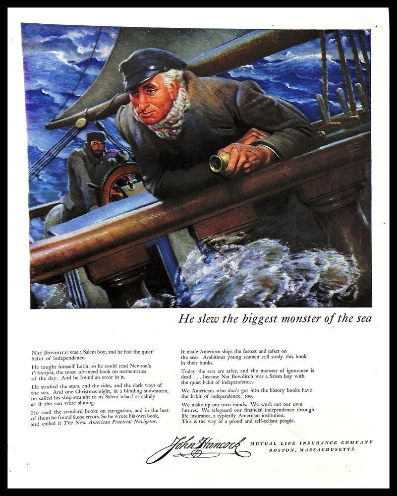 1947 John Hancock Mutual Life Insurance Vintage PRINT AD ...