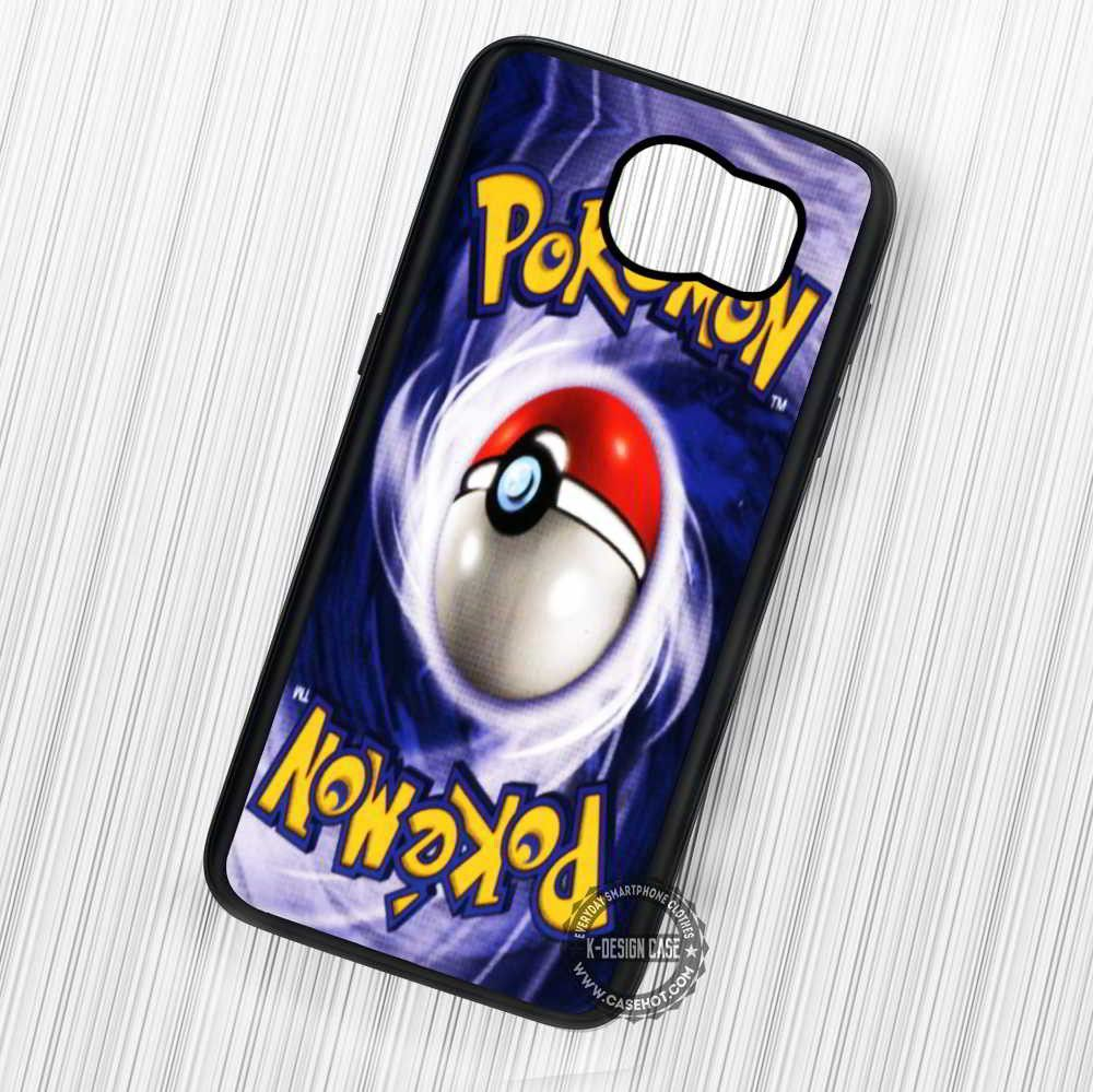 Pokemon Card Back Pokeball - Samsung Galaxy S7 S6 S5 Note 7 Cases & Covers