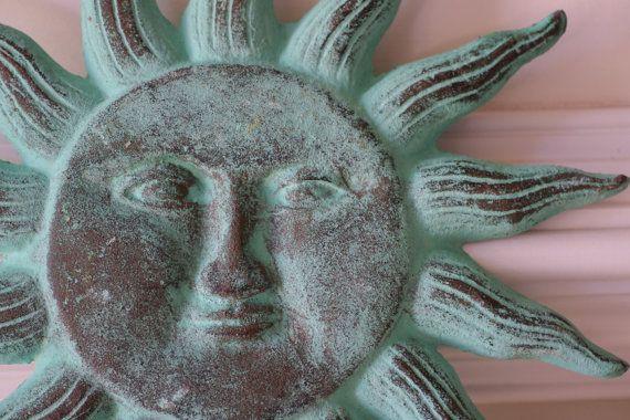 Cast Iron Sun Face Wall Decor
