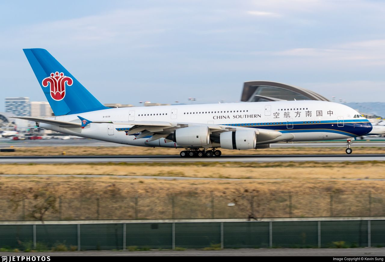 Airline China Southern Airlines Registration B6138