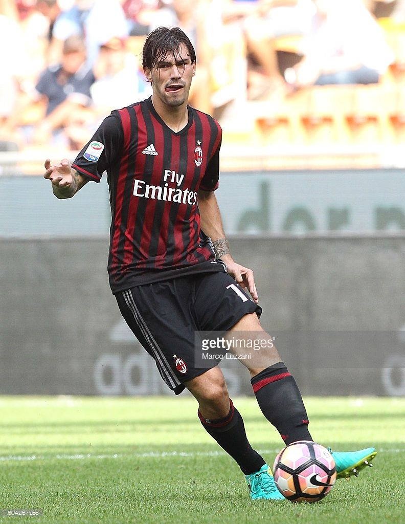 Alessio Romagnoli of AC Milan in action during the Serie A match
