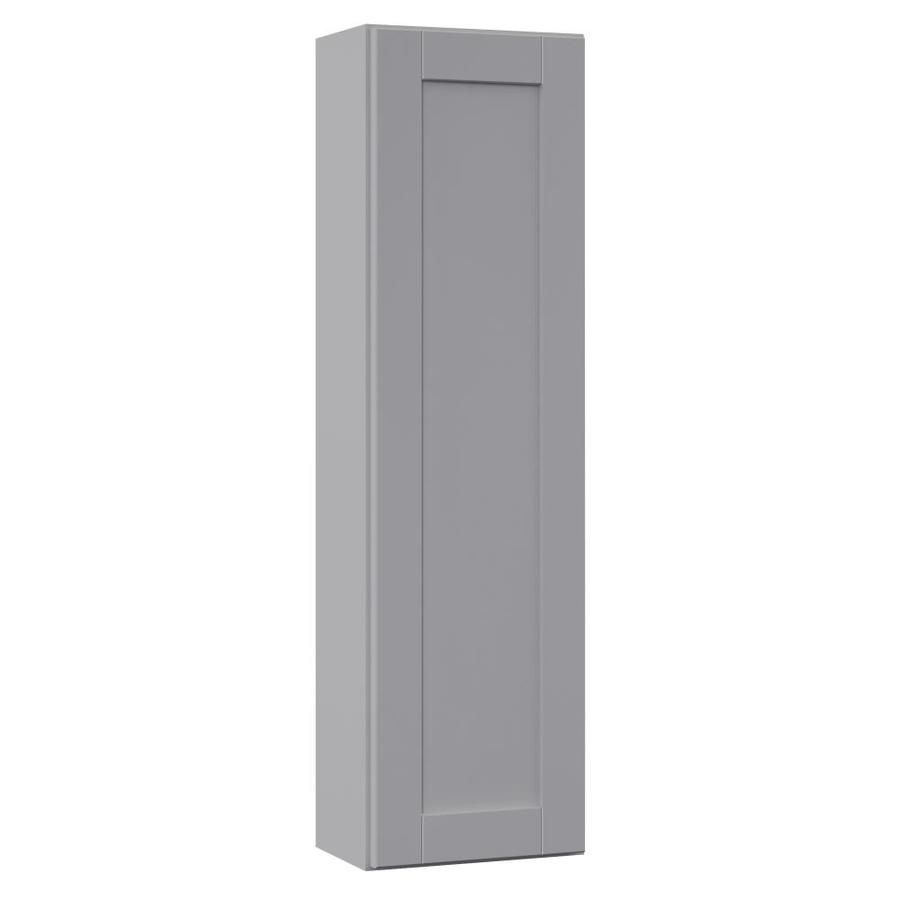 Villa Bath By Rsi Sanabelle 12 In W X 42 In H X 7 25 In D Gray Bathroom Wall Cabinet Lowes Com In 2020 Gray Bathroom Walls Bathroom Wall Cabinets Wall Cabinet