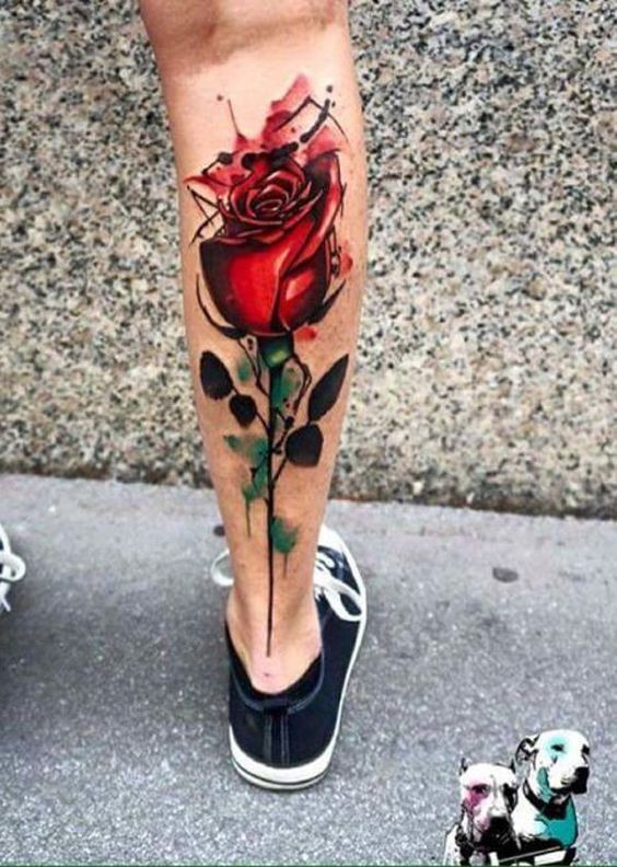 9ed9dec5b A rose tattoo generally symbolizes a love and passion. In terms of how the  tattoo looks, it becomes extraordinarily beautiful with the vibrant color.