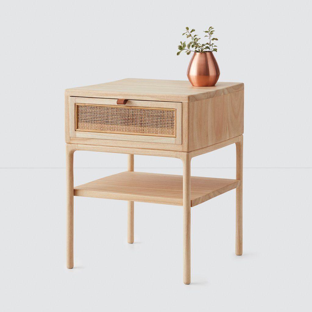 modern nightstand wood bedroom furniture