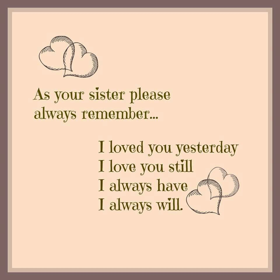 Love you Nicky | Sister quotes, Little sister quotes