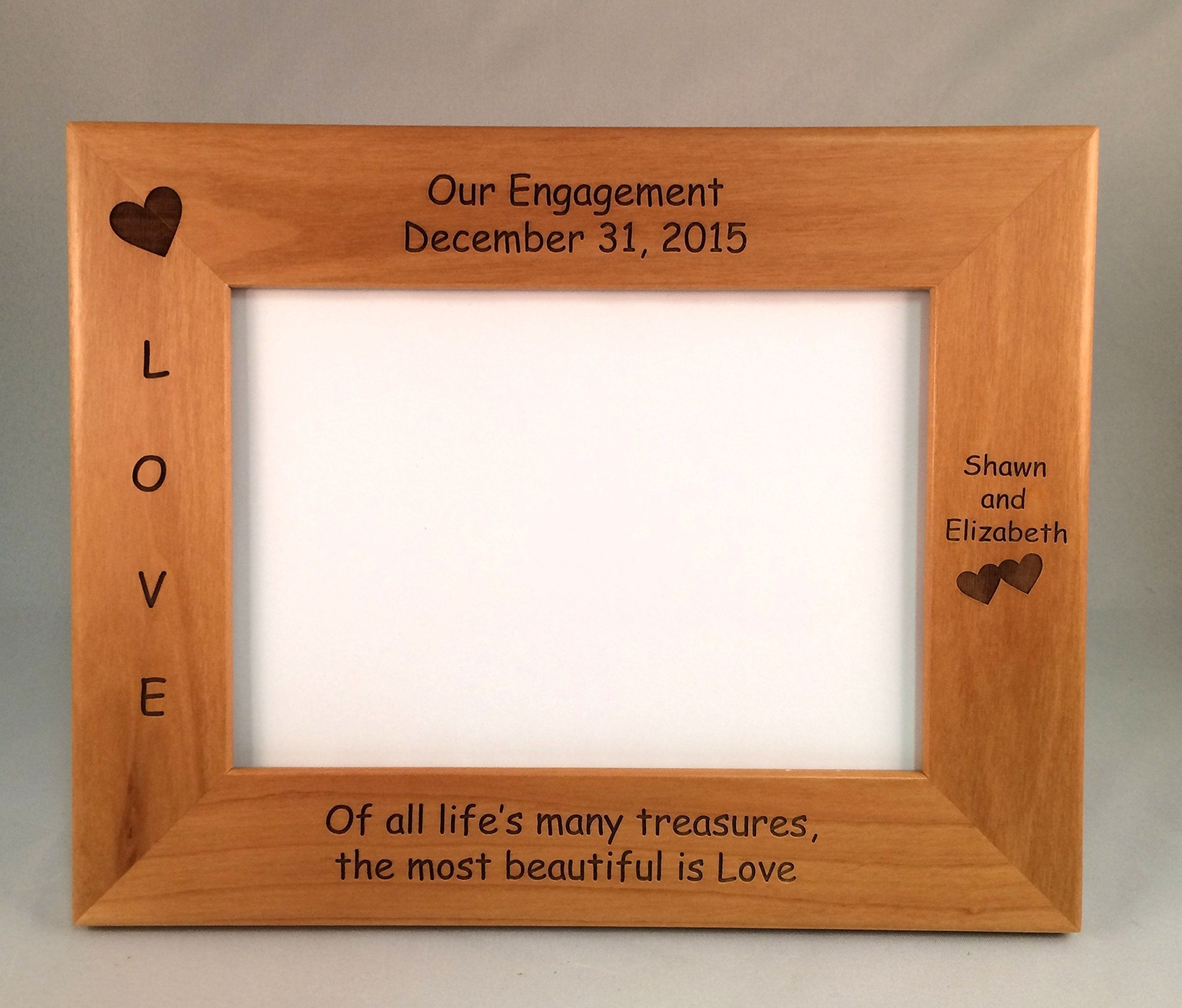 Engagement Laser Engraved Personalized 5 x 7 Photo Frame. This ...