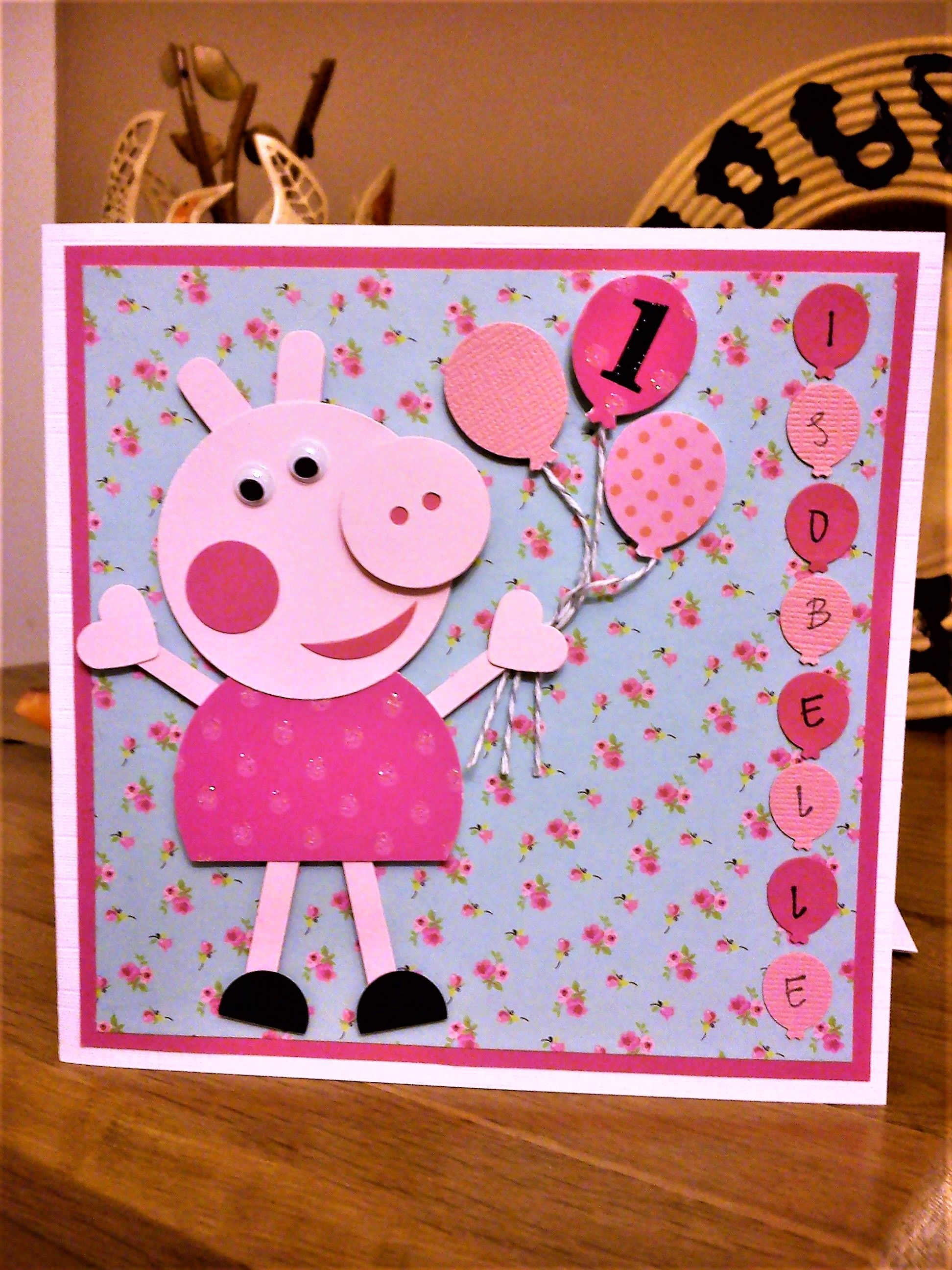 Handmade Personalised Peppa Pig Birthday Card With Images