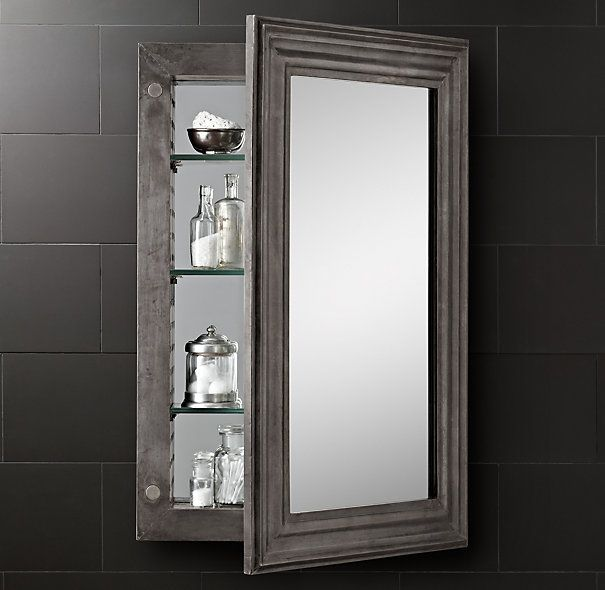 Zinc Medicine Cabinet -on sale - Restoration Hardware -master bath ...
