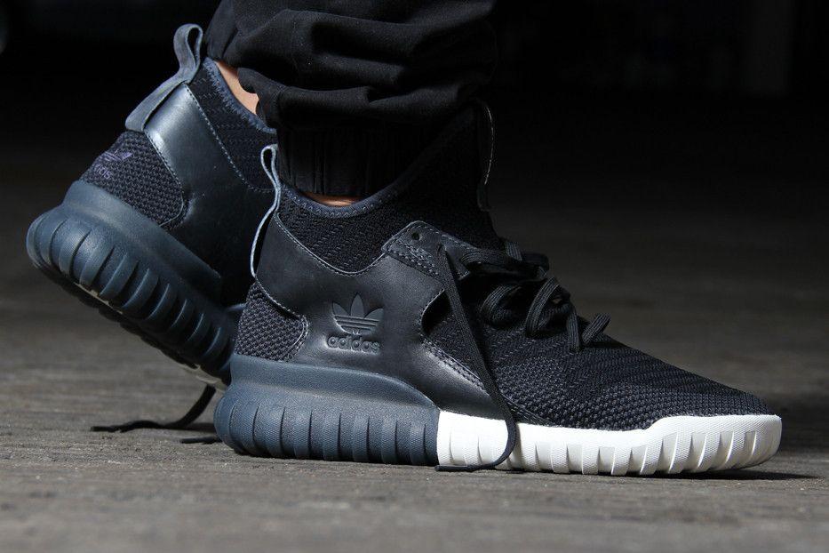 promo code e2e64 e55af Adidas Tubular X Knit - Core Black Carbon Solid Grey