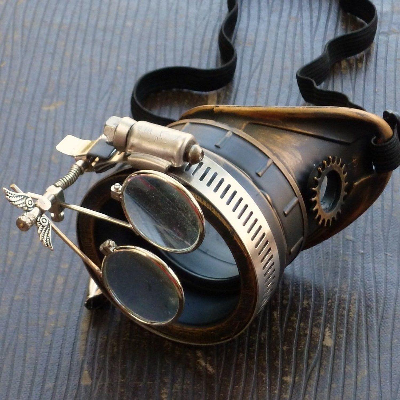 Steampunk Victorian Goggles welding Glasses monocle dark lens left eye