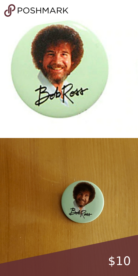 Bob Ross Pin New W Tags Bob Ross Pin From Hot Topic Make An Offer Hot Topic Other Bob Ross Emo Dresses Hot Topic Clothes