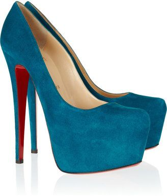 d152657f69f0 ShopStyle: Christian LouboutinDaffodile 160 suede platform pumps ...