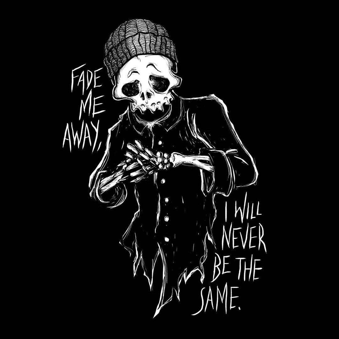 I used to do this thing back in my DeviantArt days where I'd name artwork after song lyrics. I guess I'm getting back into that. We'll see. ∆∆∆ #monotone #blackandwhite #illustration #sketch #darkart #skullart #negativespace #darkartists #penandink #blackwork #comic #graphicdesign #mood #artmood #skeleton #grim #blacktattoo #digitalillustration #darkartwork #novoamor #bw