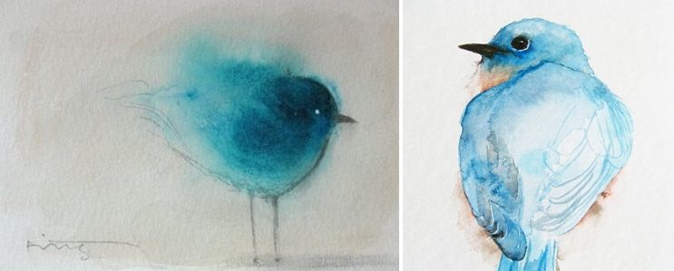 Http 4 Bp Blogspot Com 2ujzdqbngrq T2eow7n8wxi Aaaaaaaabf4 Rbe33unvudq S1600 Blue Birds Illustrations Jpg Blue Bird Over The Rainbow Bird Illustration