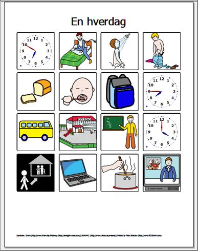 Fremstil Grafiske Materialer Med Picto Selector Til Stotte For Kommunikation Og Struktur Inklusive Symbolsamling Morgen Rutine Born Piktogram Pligter Til Born