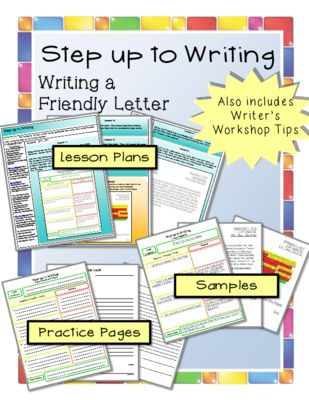 Step Up To Writing Bundle  Writing A Friendly Letter From
