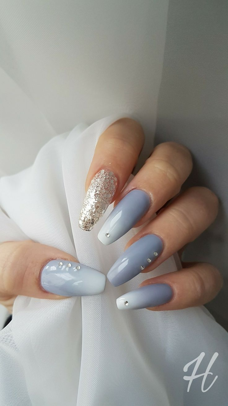 Gradient nails art tutorial how to do gradient glitter nails