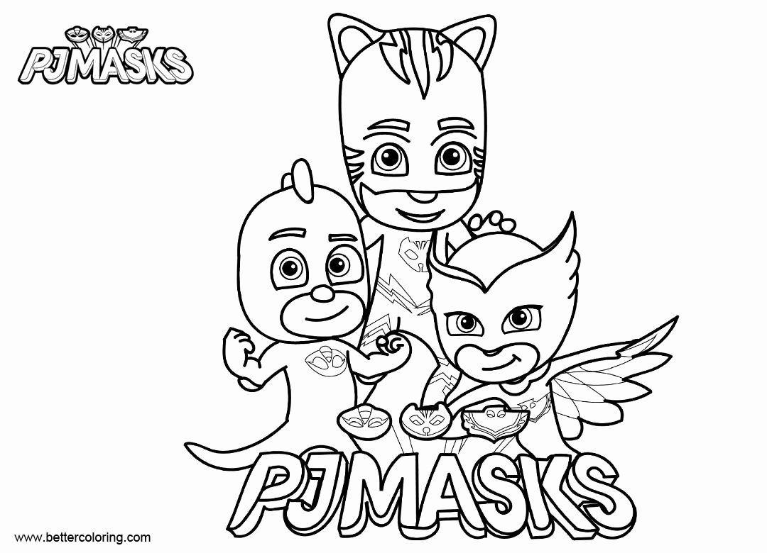 24 Printable Pj Masks Coloring Pages в 2020 г | Рисунки ...