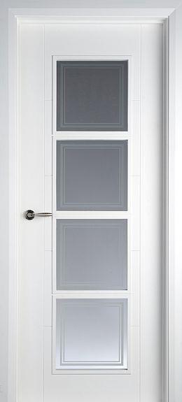 Iseo 4 Lite White Primed Pre Glazed 40mm Interior Door Glaze