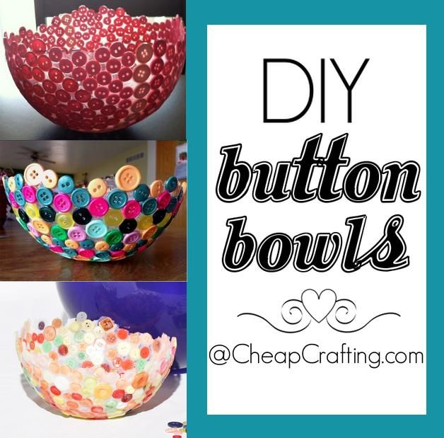 diy craft ideas for adults diy button bowls glue buttons to a balloon add 6452