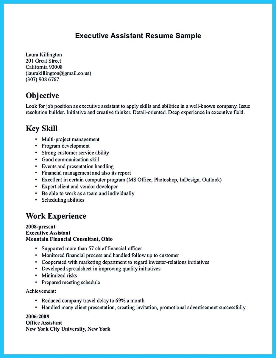 Nice Writing Your Assistant Resume Carefully  Resume Template