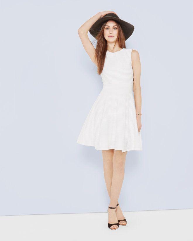 b3810ad5adeadf Ottoman ribbed dress - White