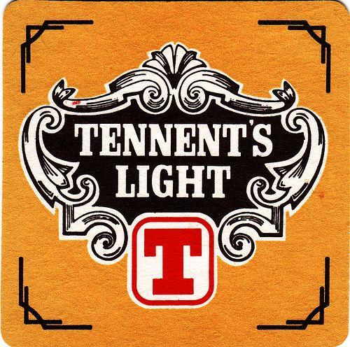 Tennent S Light Beer Mat Beer Label Beer Coasters Vintage Beer