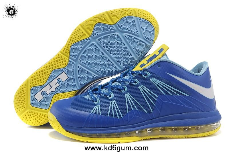 78e0fdd941 New Nike Air Max Lebron 10 Low Blue Yellow