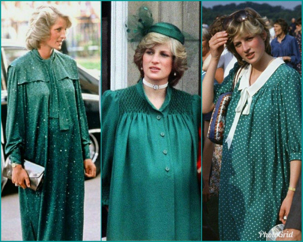 Green Maternity Dress Lady Diana Princess Diana Green Maternity Dresses [ 990 x 1238 Pixel ]