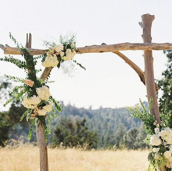 Simple Country Wedding Ideas: Simple Driftwood Wedding Arch