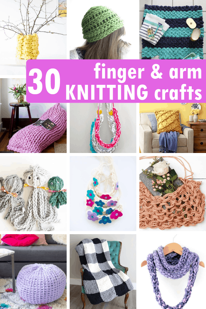 Photo of 30 FINGER AND ARM KNITTING projects — free patterns.