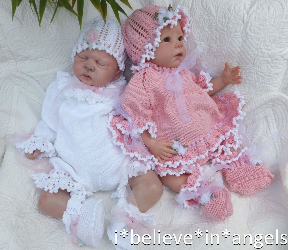 Knitting pattern to make *coco* 4 piece romper/angel set for baby or ...