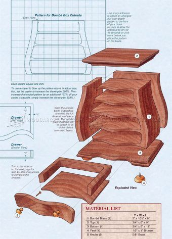 2948 Bombe Jewelry Box Plans Woodworking Plans Woodworking