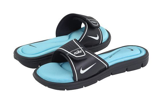 a02b579753c6 Nike Comfort Slide Dark Obsidian   White-Powder Blue 360883 411 ...