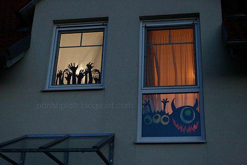 halloween decorations Decoration, Halloween window decorations and - halloween window decorations