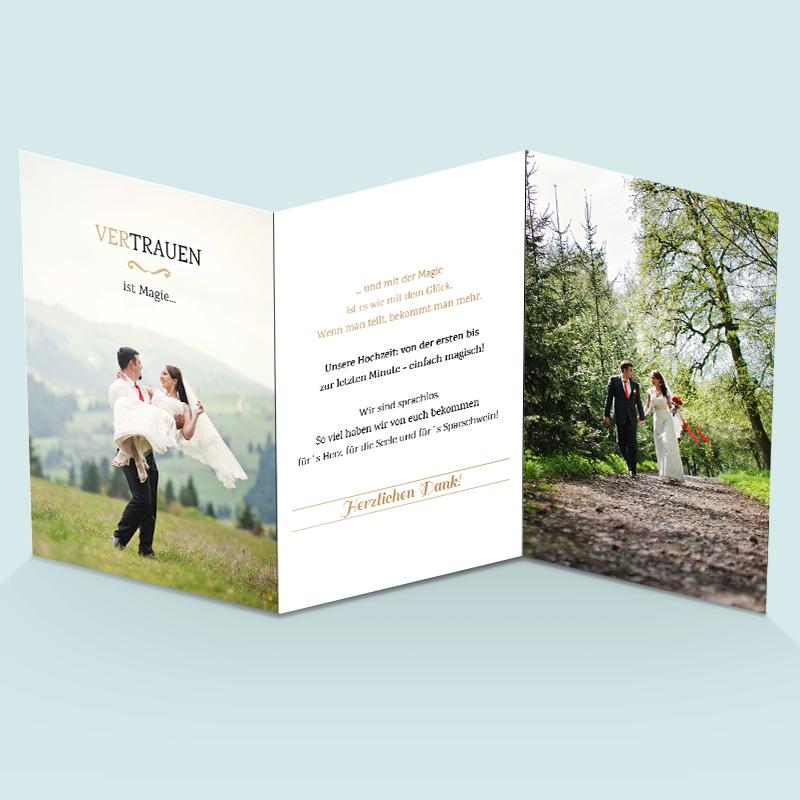 FotoDankeskarten zur Hochzeit Wir trauen uns in 2019