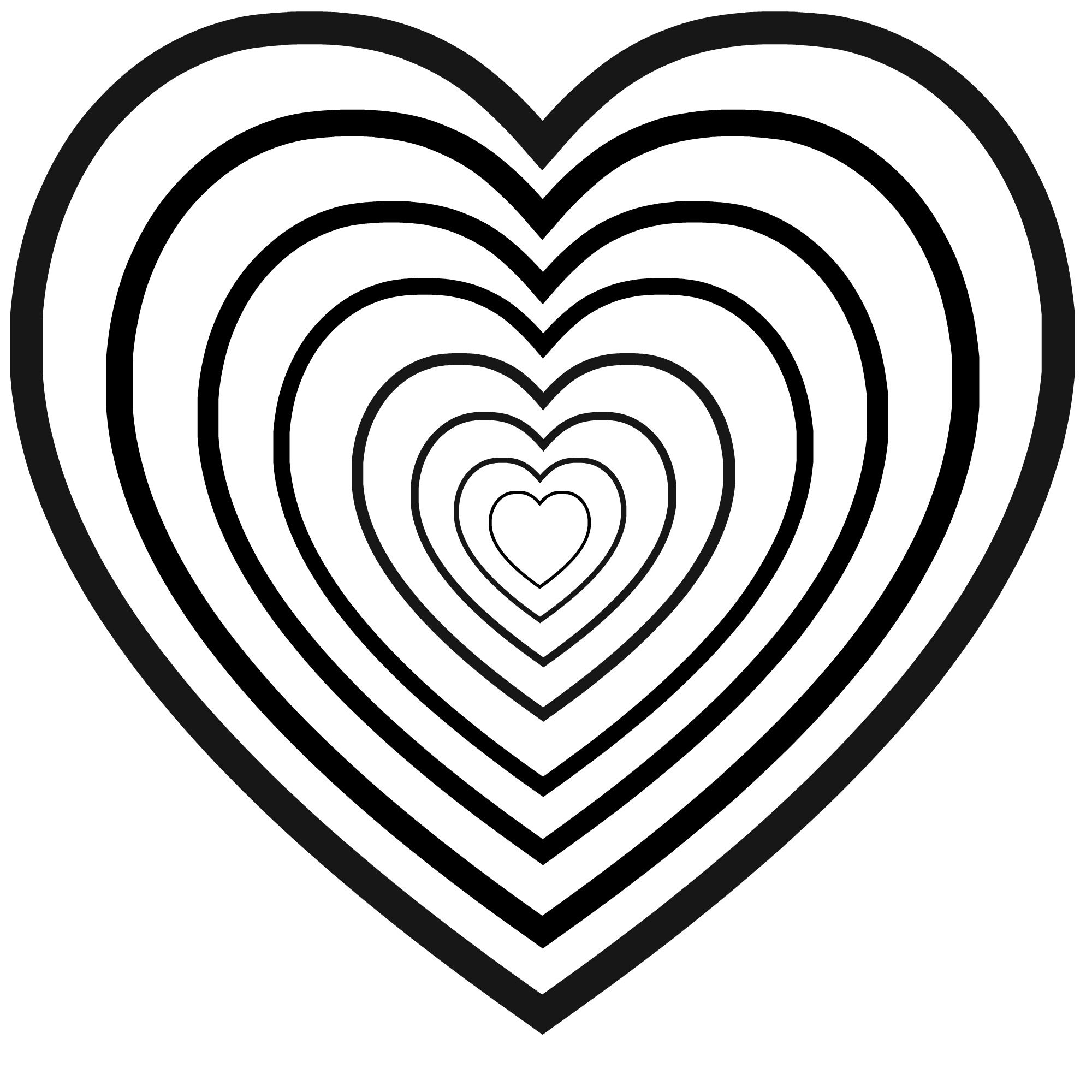 Valentine S Day Heart Coloring Sheet