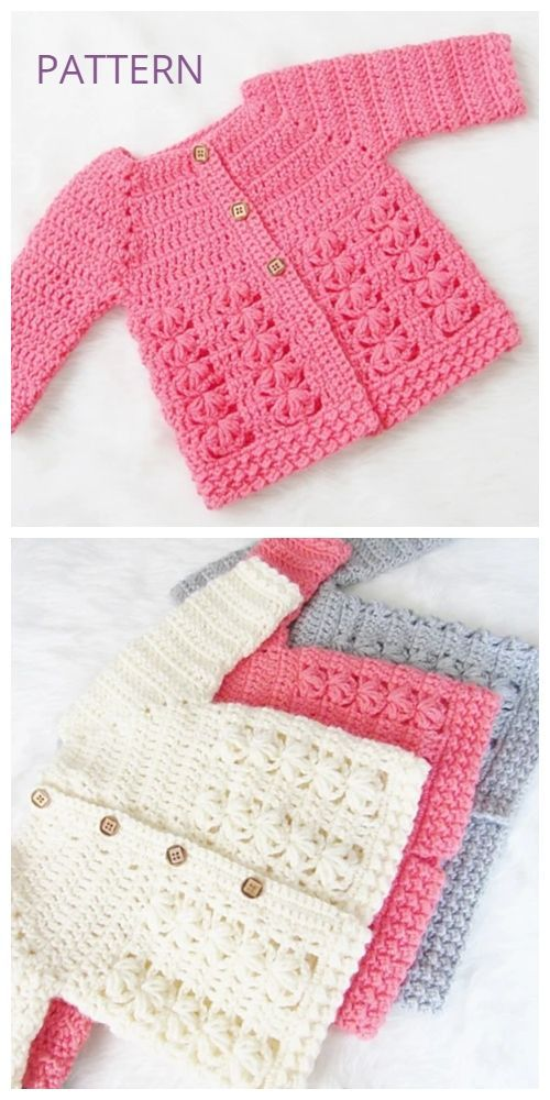 Evelyn Baby Sweater Cardigan Crochet Pattern  #cardigan #crochet #evelyn #knittingmodelideas #pattern #sweater #crochetbabycardigan