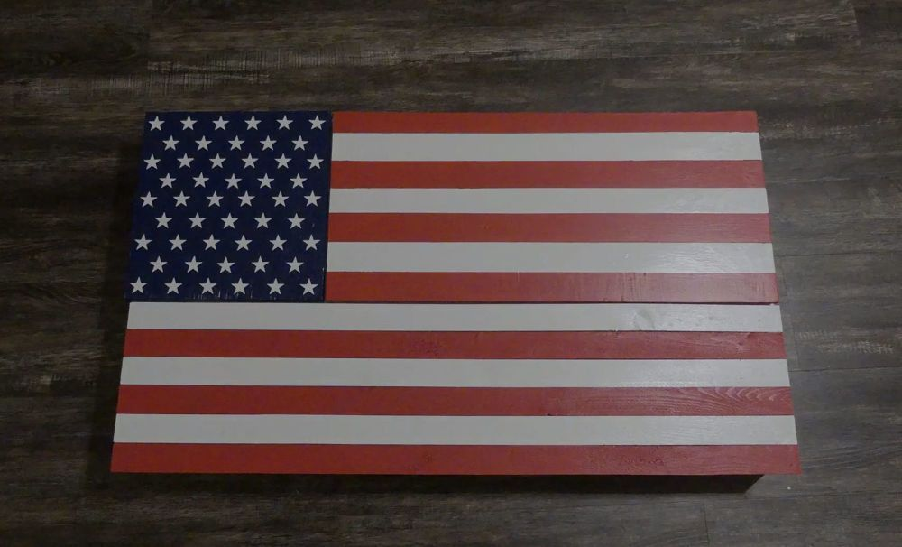 How To Build This American Flag Wall Safe Before The Fourth Of July American Flag Wood Cheap Diy Wall Art Metal American Flag
